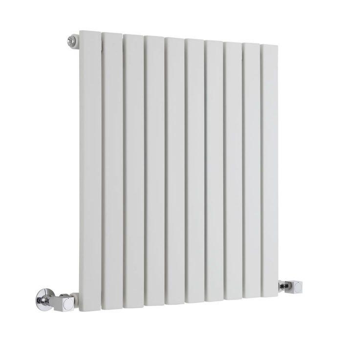 "Sloane - White Horizontal Single Flat-Panel Designer Radiator - 25"" x 23.5"""