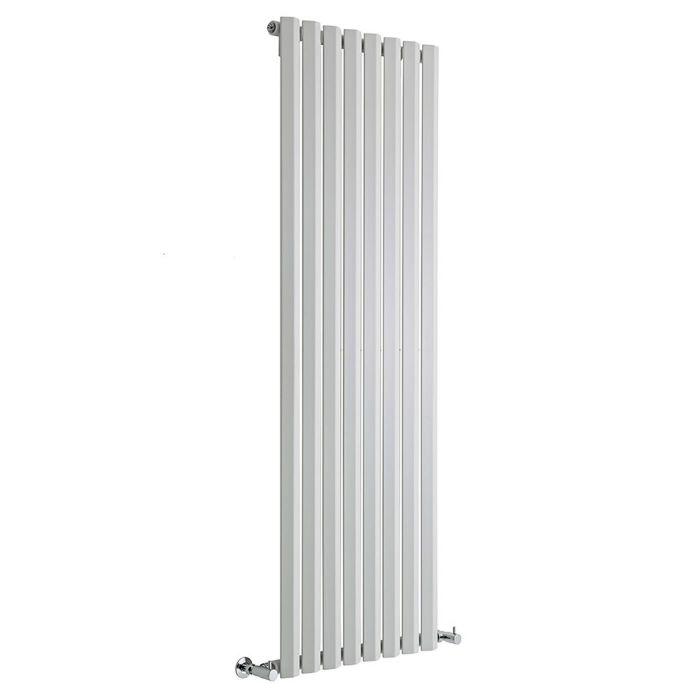 "Edifice - White Vertical Single-Panel Designer Radiator - 63"" x 22"""