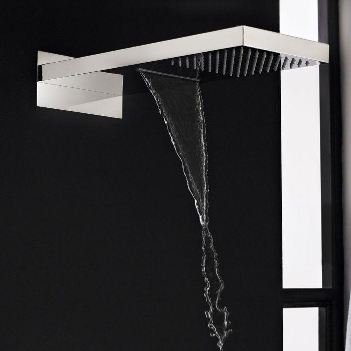 Rectangular Shower Head with Waterfall