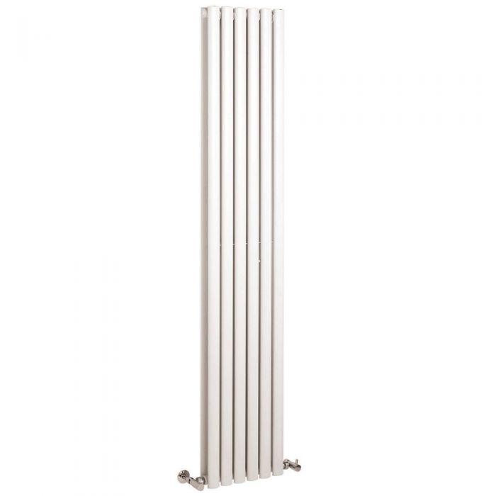 "Revive - White Vertical Double-Panel Designer Radiator - 70.75"" x 14"""