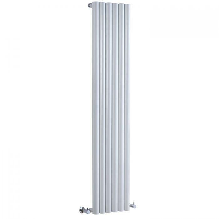 "Savy - White Vertical Single-Panel Designer Radiator - 63"" x 14"""