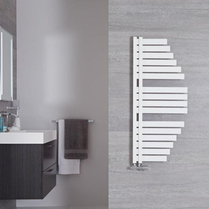 """Lazio - Mineral White Hydronic Designer Towel Warmer - 43.25"""" x 19"""""""