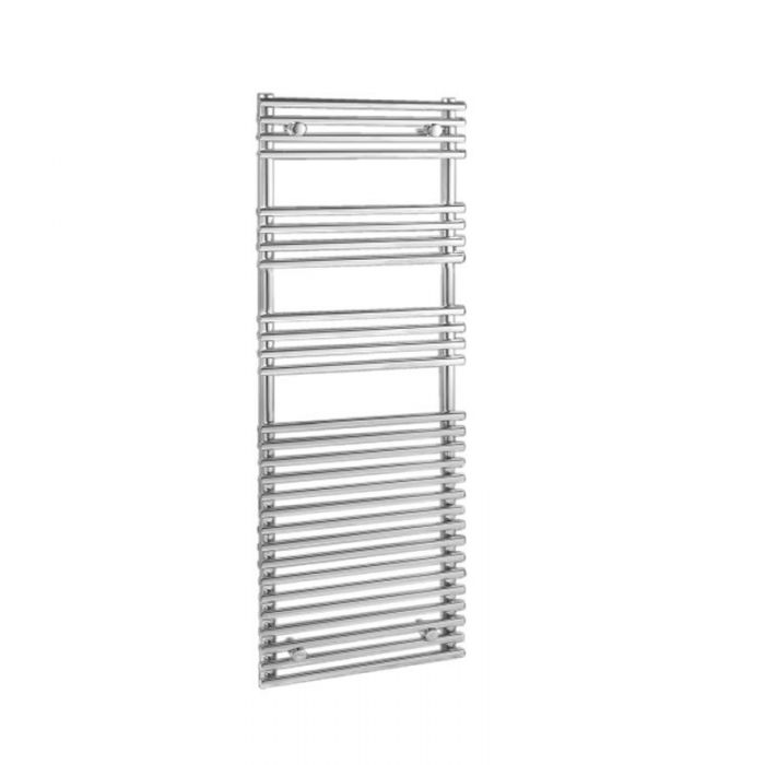 "Ischia - Hydronic Chrome Heated Towel Warmer - 65"" x 23.5"""