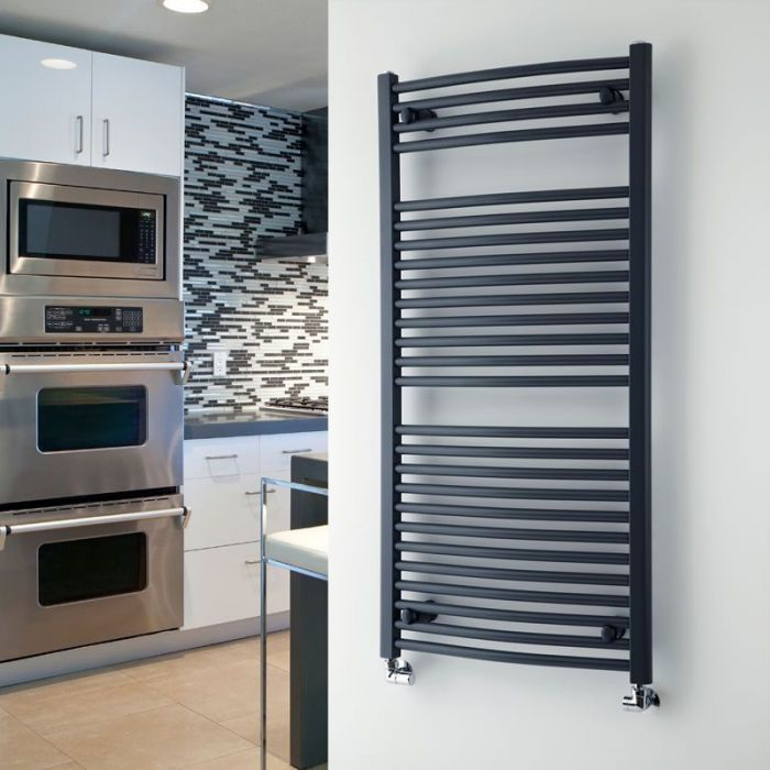 """Loa - Hydronic Anthracite Heated Towel Warmer - 47.25"""" x 23.5"""""""