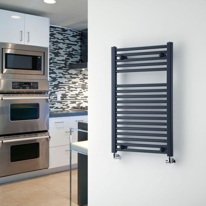 "Loa - Hydronic Anthracite Heated Towel Warmer - 31.5"" x 19.75"""