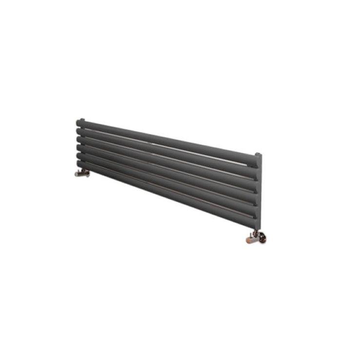 "Revive - Anthracite Horizontal Single-Panel Designer Radiator - 14"" x 63"""