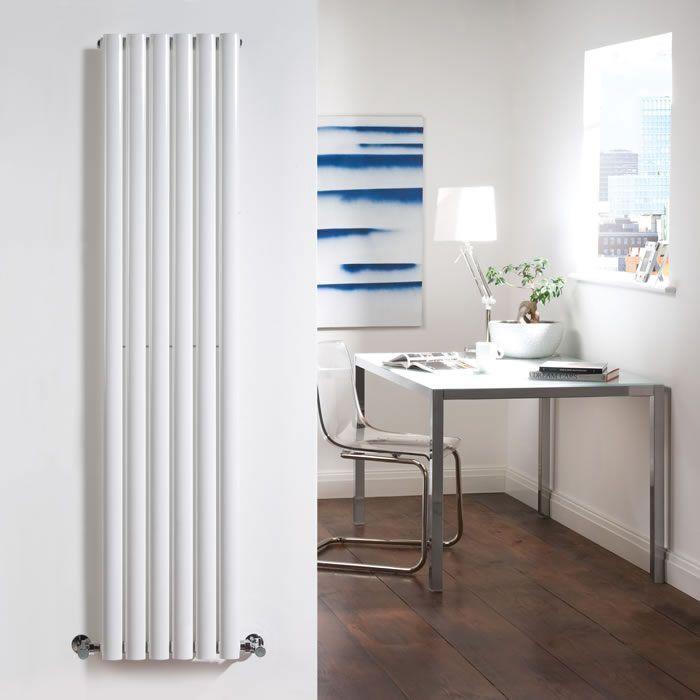 "Revive - White Vertical Single-Panel Designer Radiator - 70"" x 14"""