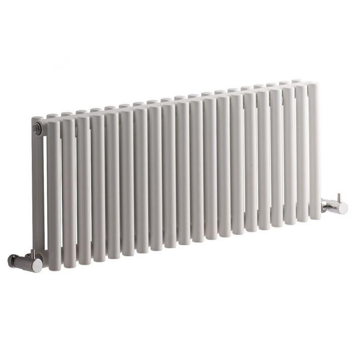 "Revive - White Horizontal Single-Panel Designer Radiator - 11.75"" x 30"""