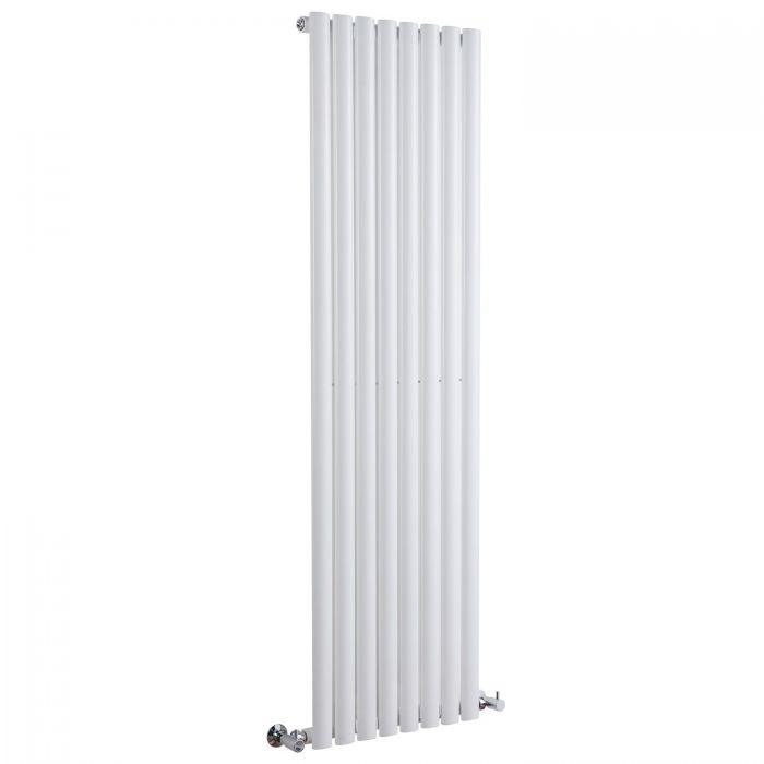 "Revive - White Vertical Single-Panel Designer Radiator - 63"" x 18.5"""