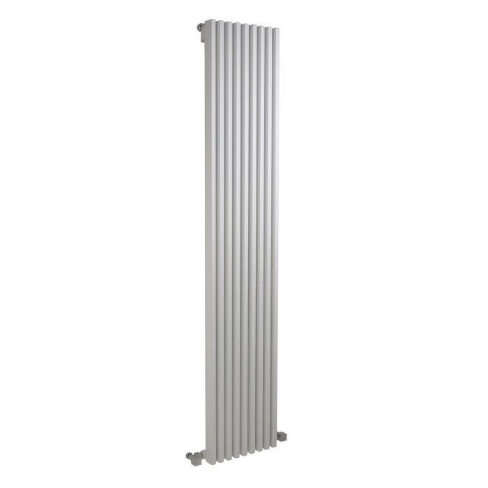 """Fin - White Vertical Single-Panel Designer Radiator - 70"""" x 13.5"""""""