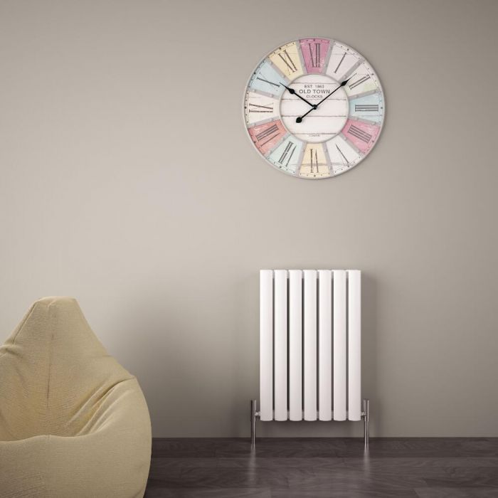 "Revive Air - White Aluminum Horizontal Double-Panel Designer Radiator - 23.5"" x 16.25"""