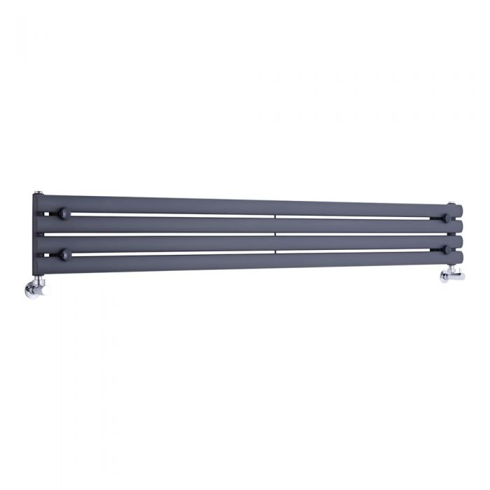 "Revive - Anthracite Horizontal Single-Panel Designer Radiator - 9.25"" x 70"""