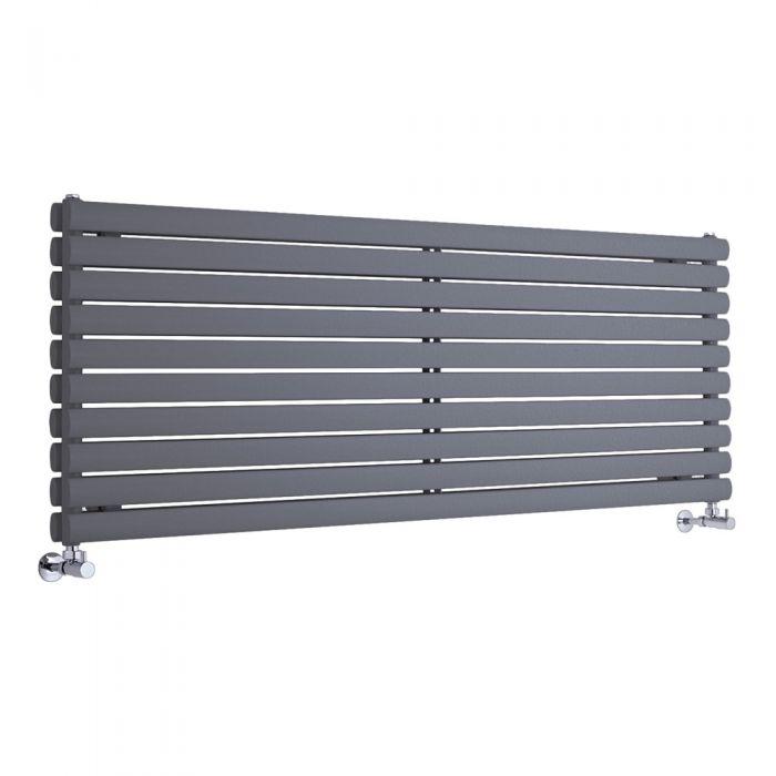 """Revive - Anthracite Horizontal Double-Panel Designer Radiator - 23.25"""" x 70"""""""