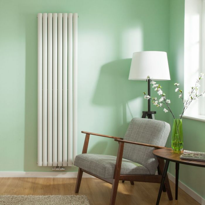 "Revive Centrix - White Vertical Double-Panel Designer Radiator - 70"" x 18.5"""