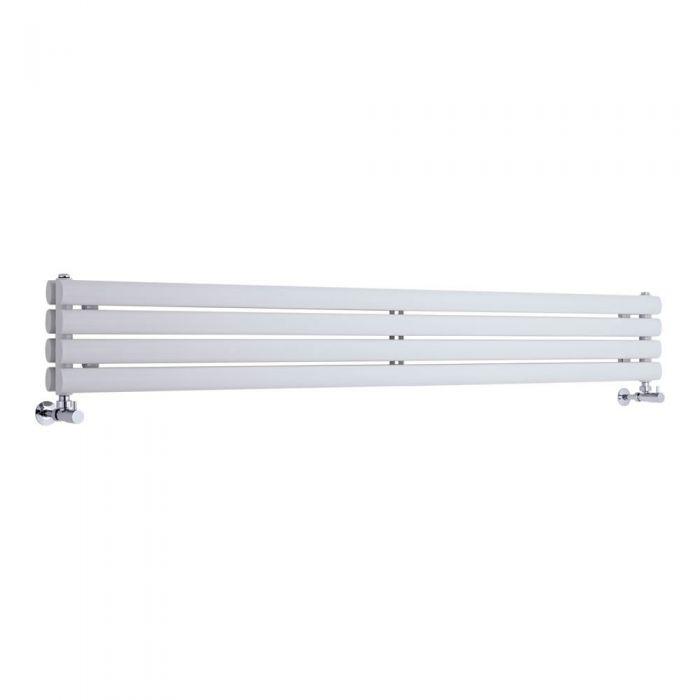 "Revive - White Horizontal Double-Panel Designer Radiator - 9.25"" x 70"""
