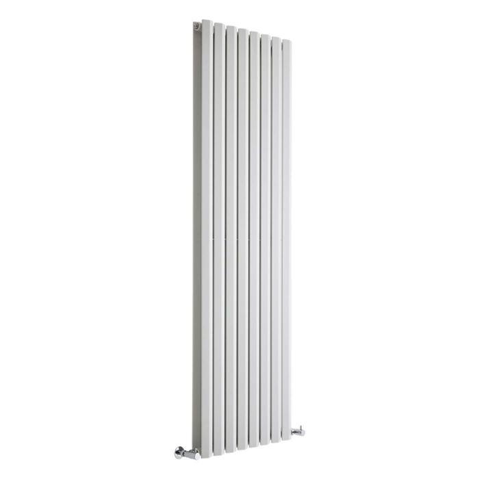 "Edifice - White Vertical Double-Panel Designer Radiator - 70"" x 22"""