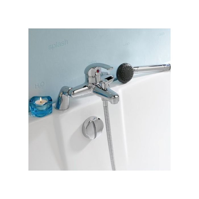 Single Lever Chrome Deck Mount Tub Shower Mixer Faucet From Hudson Reed