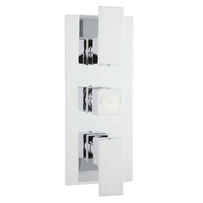 Art Concealed Thermostatic Triple Shower Valve with Diverter 3 Outlet Options