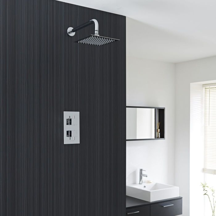 Valquest Twin Concealed Thermostatic Shower Faucet Fixed Head