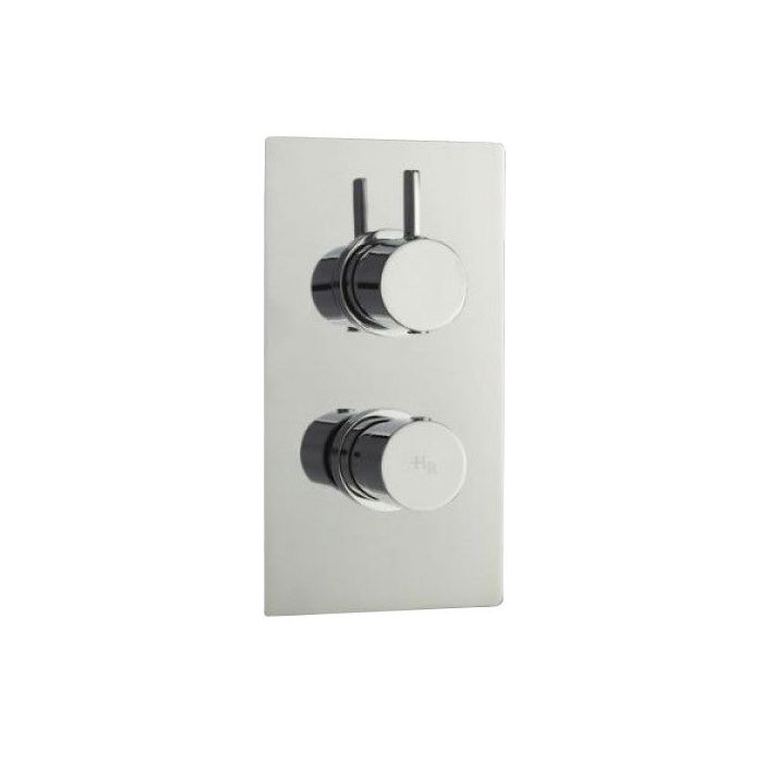 Clio Concealed Thermostatic Twin Shower Faucet Valve 1 Outlet Option
