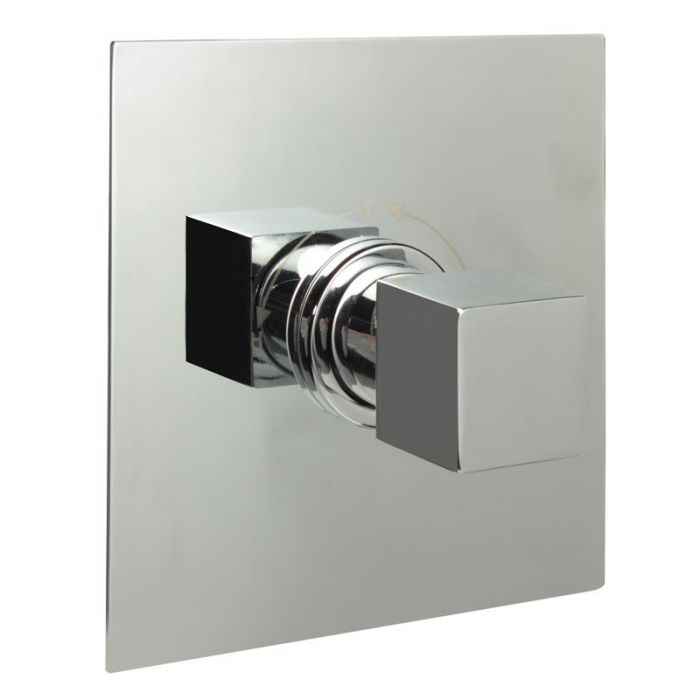 "3/4"" Sequential Valve, Square Plate & Modern Square Handle"