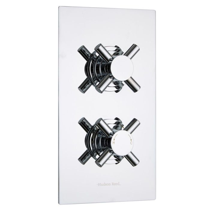 Kristal Concealed 1 Outlet Twin Thermostatic Shower Valve