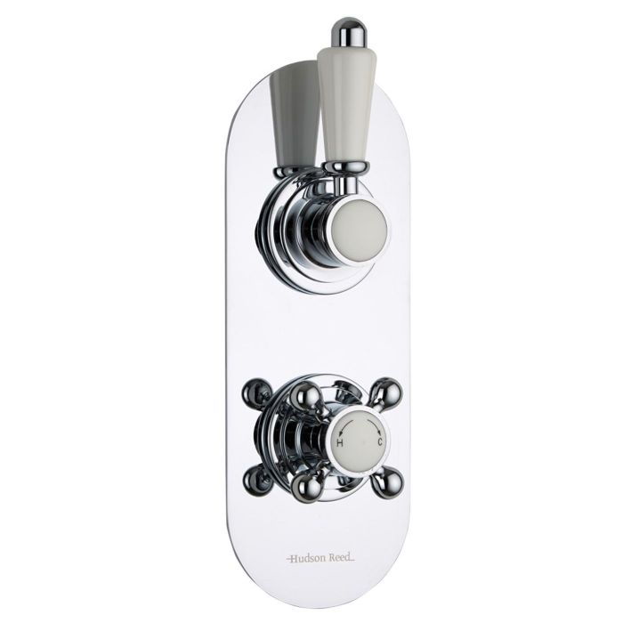 Traditional Concealed 2 Outlet Twin with Diverter Thermostatic ...