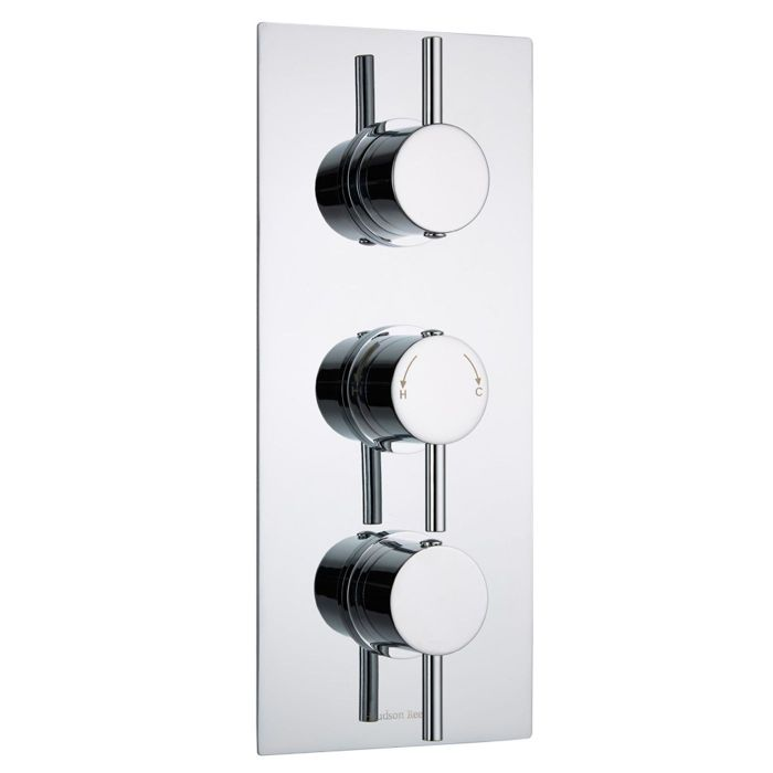 Quest Concealed 2 Outlet Triple Thermostatic Shower Valve