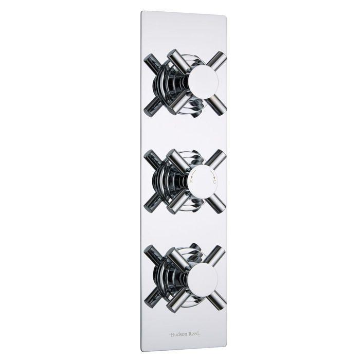 Kristal Concealed 2 Outlet Triple Thermostatic Shower Valve (Slim Plate)