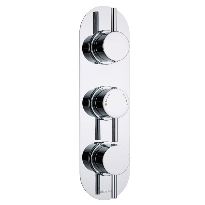 Quest Concealed 3 Outlet Triple With Diverter Thermostatic Shower Valve  (Racetrack Plate)