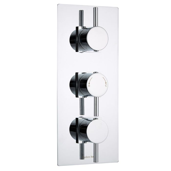 Quest Concealed 3 Outlet Triple with Diverter Thermostatic Shower Valve (Square Flange)