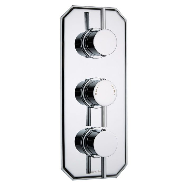 Quest Concealed 3 Outlet Triple with Diverter Thermostatic Shower Valve (Traditional Plate)