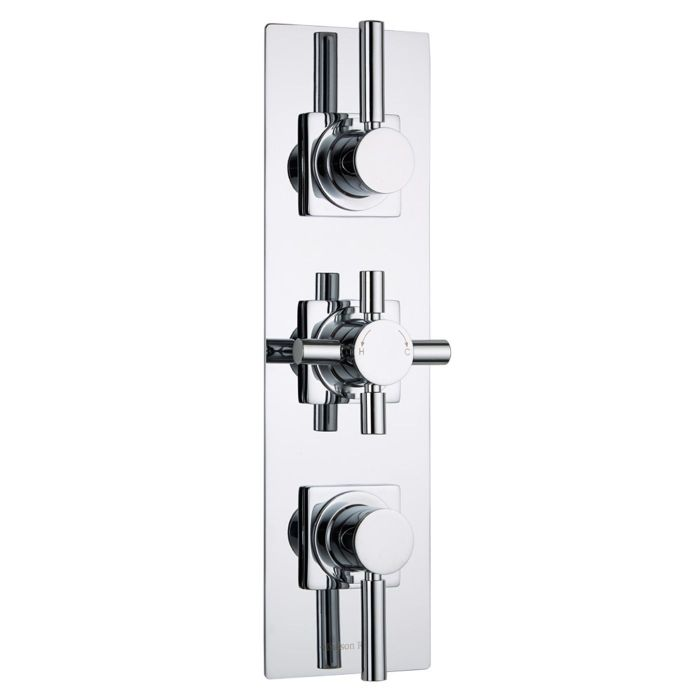 Tec Concealed 2 Outlet Triple Thermostatic Shower Valve (Slim Trim Plate)