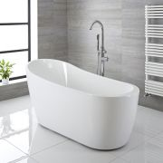 Modern Acrylic Freestanding Slipper Bath Tub 65""