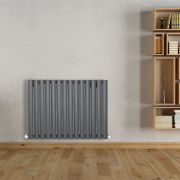 "Revive - Anthracite Horizontal Single-Panel Designer Radiator - 25"" x 32.75"""