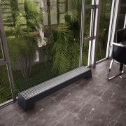 Hudson Reed Adva - Anthracite Double Panel Low Level Convector Radiator - 200mm x 1800mm