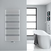 "Arch - White Hydronic Heated Towel Warmer - 50"" x 23.5"""