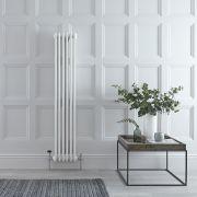 "Regent - White Vertical 2-Column Traditional Cast-Iron Style Radiator - 59"" x 11.5"""