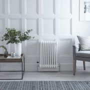 "Regent - White Horizontal 2-Column Traditional Cast-Iron Style Radiator - 11.75"" x 31"""
