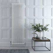 "Regent - White Vertical 3-Column Traditional Cast-Iron Style Radiator - 70.75"" x 22.25"""