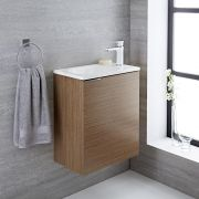 Randwick - 20'' Oak Wall-Mount Bathroom Vanity