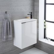 Randwick - 20'' White Wall-Mount Bathroom Vanity