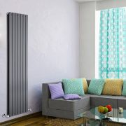 "Delta - Anthracite Vertical Double Slim-Panel Designer Radiator - 70"" x 19.25"""