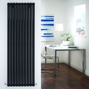 "Revive - Black Vertical Single-Panel Designer Radiator - 70"" x 23.25"""