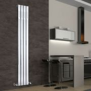 "Delta - Chrome Vertical Single Slim-Panel Designer Radiator - 70.75"" x 11.75"""