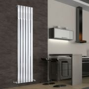 "Delta - Chrome Vertical Single Slim-Panel Designer Radiator - 70.75"" x 17.75"""