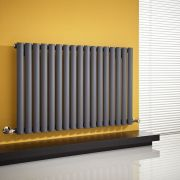 "Revive - Anthracite Horizontal Single-Panel Designer Radiator - 25"" x 39.25"""