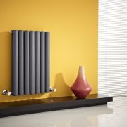 "Revive - Anthracite Horizontal Double-Panel Designer Radiator - 25"" x 16.25"""