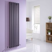 "Edifice - Anthracite Vertical Single-Panel Designer Radiator - 63"" x 16.5"""