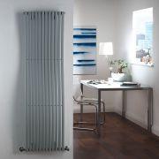 "Palero - Silver Vertical Single-Panel Designer Radiator - 63"" x 18"""